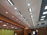 LED surface light parameters and functional uses of multi-function hall lighting
